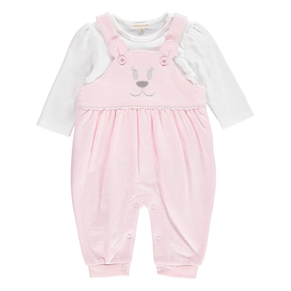 43f707315 Mintini-Baby-Girl-Pale-Pink-Dungaree-Set