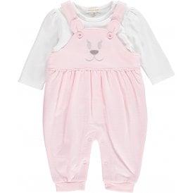 db7cb6379 Baby Girl Pale Pink Dungaree Set