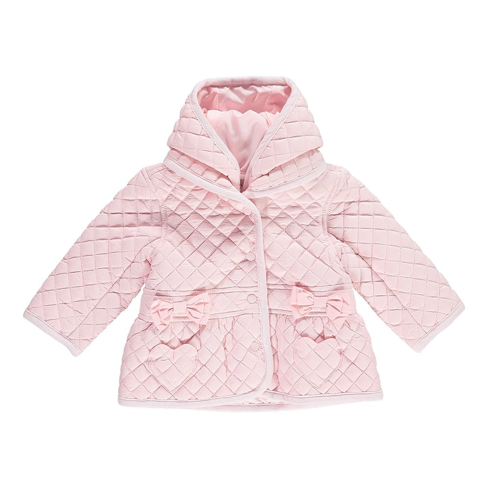 cd3d38bf8 SALE. Baby Girl Pale Pink Padded Jacket