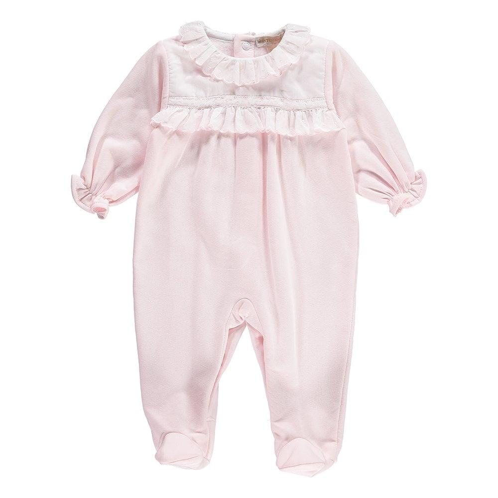 96a017a0f81c Mintini-Girls-Pink-Cotton-Frill-Babygrow