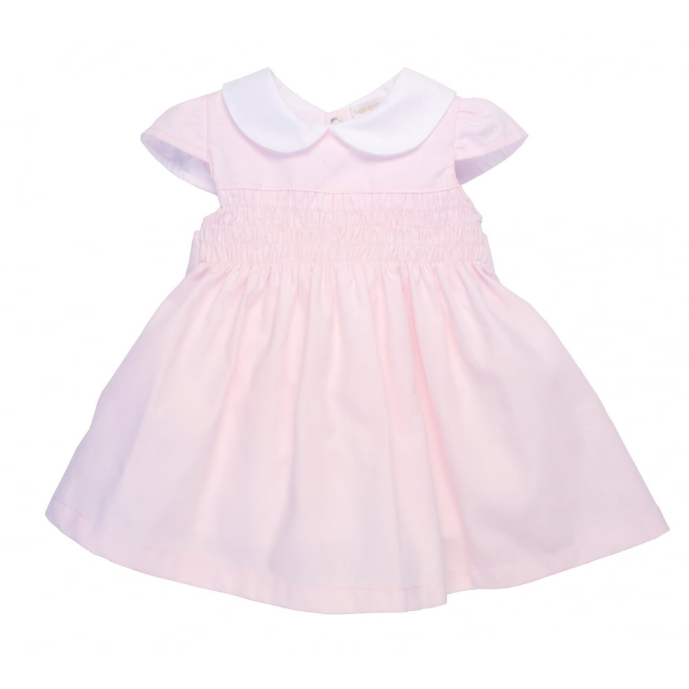 7068bd4e6 Mintini-Girls-Pink-Smocked-Dress