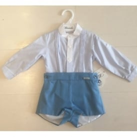 Baby Boys Blue Shirt and Short Set