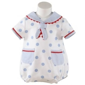 Baby Boys Sailor Style Romper