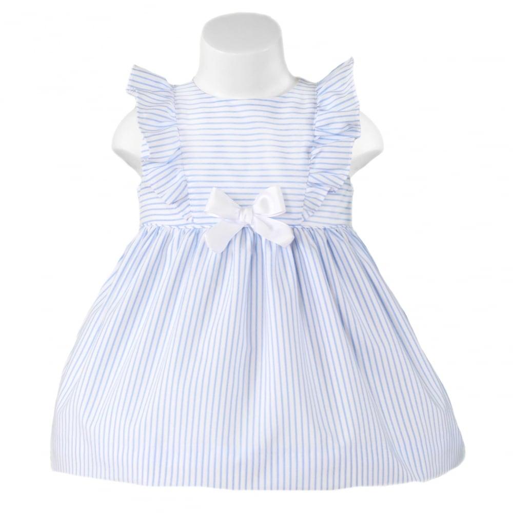10f130af917e Miranda-Girls-SS18-Blue-White-Stripe-Dress