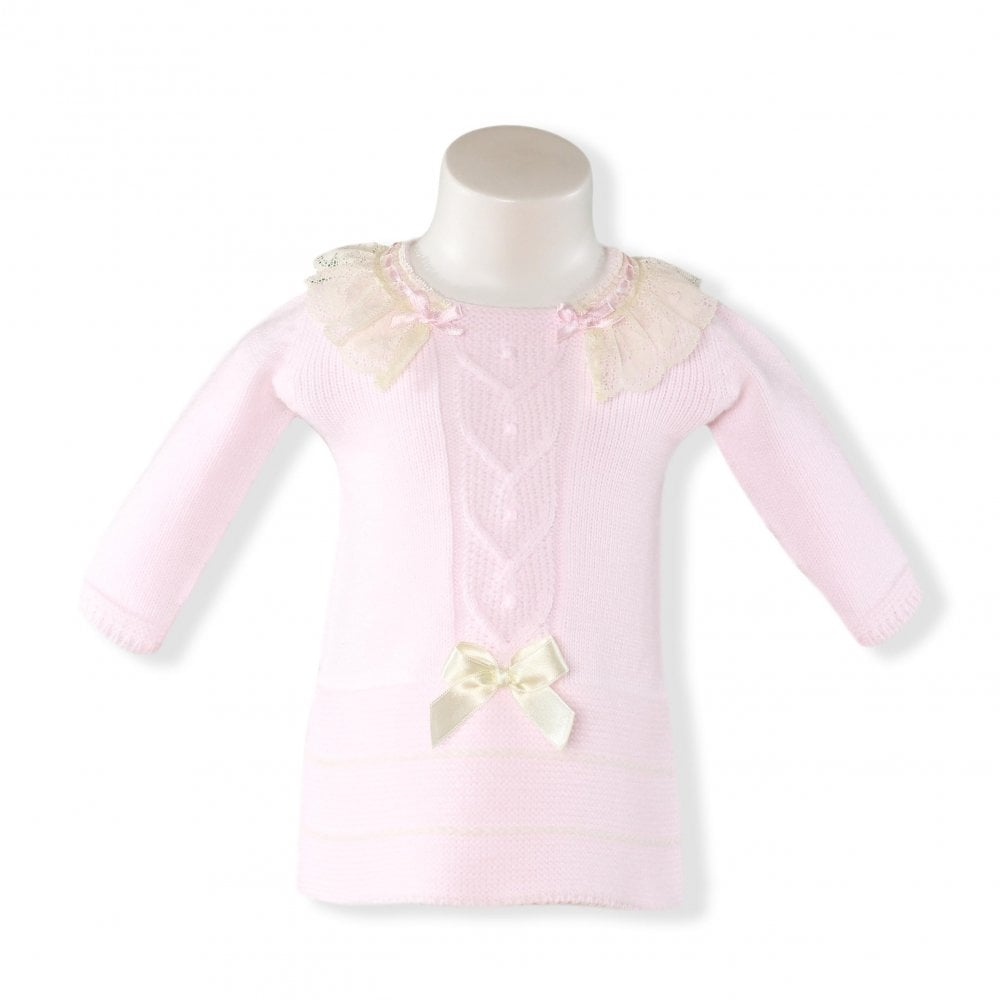 99209e994024 Miranda-Girls-Pink-Knitted-Top-Dress