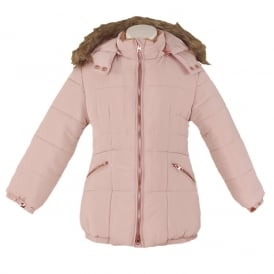 Girls Dusty Pink Coat