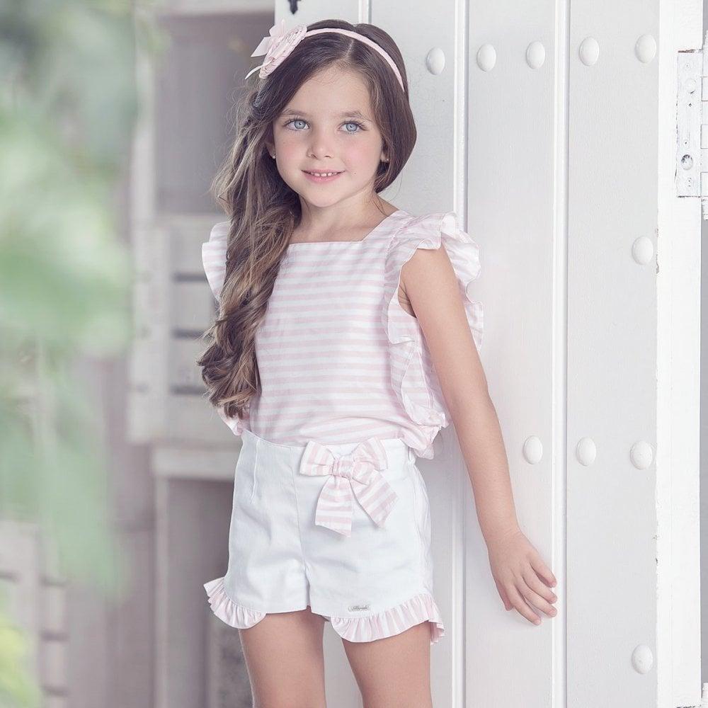 Miranda-Girls-SS19-Pink-and-White-Short-Set