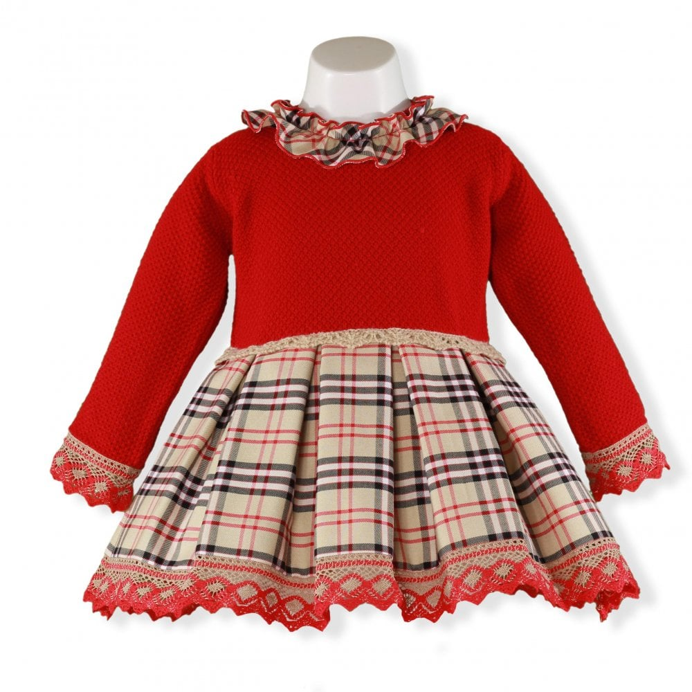 b30e929ce7bc Miranda-Girls-Red-Knitted-Fishtail-Dress