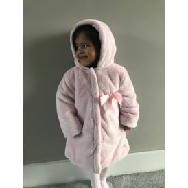 Girls Reversible Pink Fur Coat