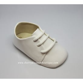 Baby Soft Lace-Up Booties in White