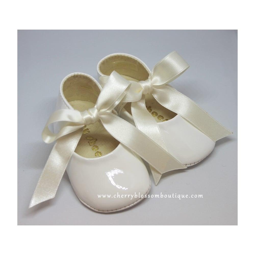 e5ae11cbf1574 Baby-Shoes-Baby-Soft-Patent-Ribbon-Pram-Shoe-Ivory