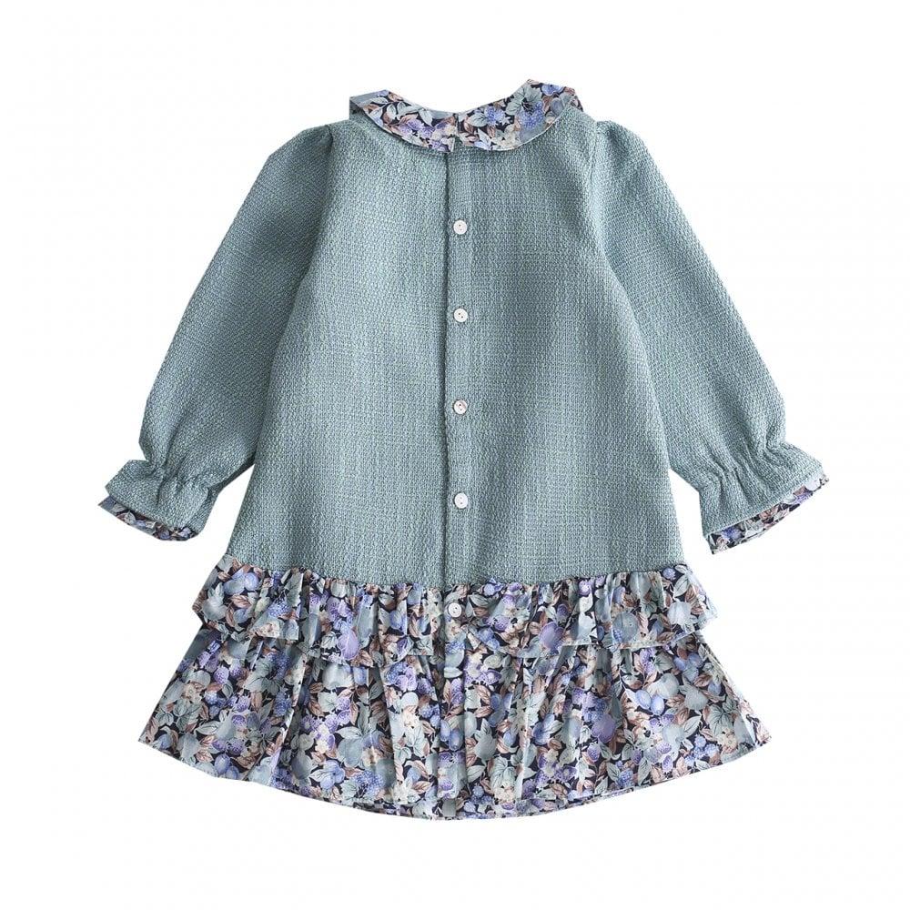 b2259222ce43 Newness-Girls-Forest-Green-Drop-waist-Dress
