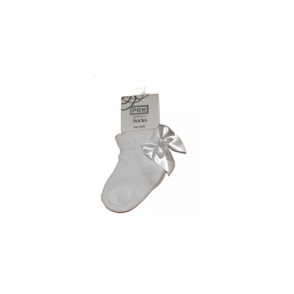 Baby Pex Ivory Ribbon Ankle Socks