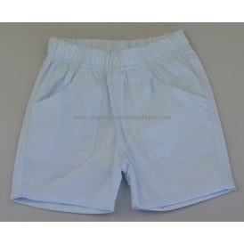 Baby Cotton Shorts in Pale Blue