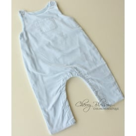 Baby Fine Cord Dungaree in Pale Blue