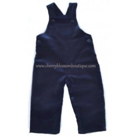 Baby Soft Cord Dungaree in Navy