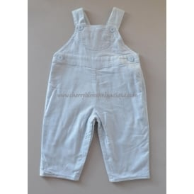 Baby Soft Cord Dungaree in Pale Blue