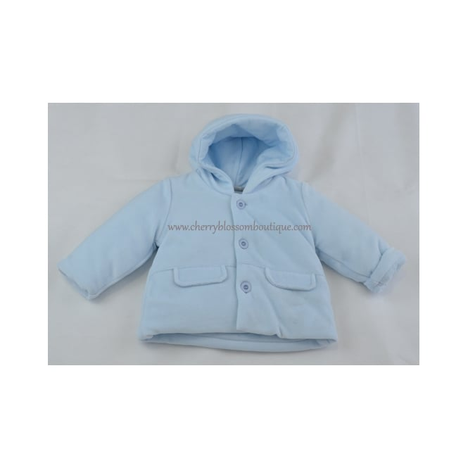 Piruleta Baby Baby Soft Cord Jacket in Pale Blue