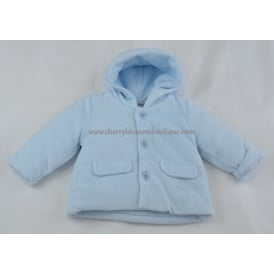 Baby Soft Cord Jacket in Pale Blue
