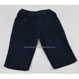 Baby Soft Cord Trousers in Navy