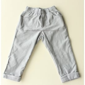 Baby Soft Cord Trousers in Pale Grey