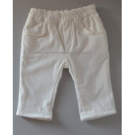 Baby Soft Cord Trousers in White
