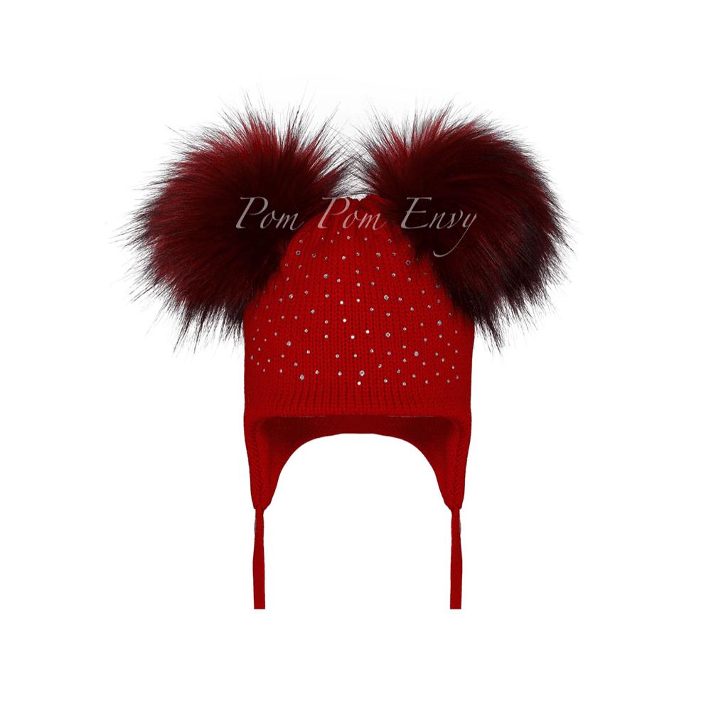 235628e6ec8 Pom-Pom-Envy-Double-Bubble-Bling-Hat-Red