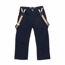 Boys Navy Trouser with Braces
