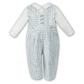 Boys Long Sleeved Check Romper 010851