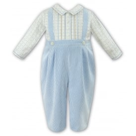 Boys Long Sleeved Check Romper 010853
