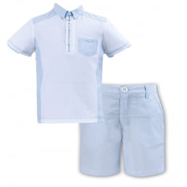 Boys Polo and Pale Blue Short