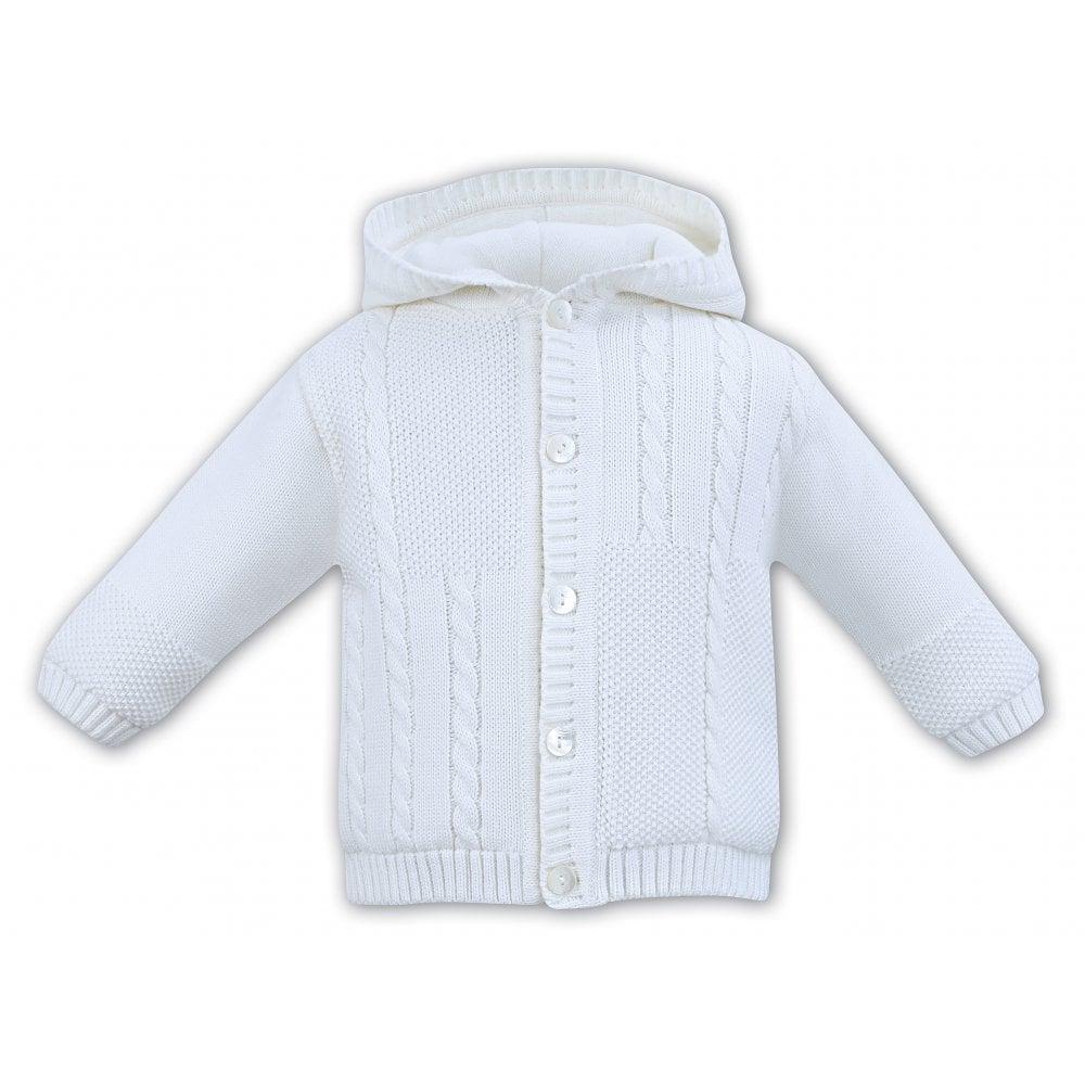 979443e4eaf Sarah-Louise-Boys-White-Knitted-Jacket