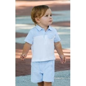 Dani Boys Polo and Pale Blue Short