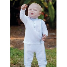 Dani Boys White and Pale Blue Tracksuit Set