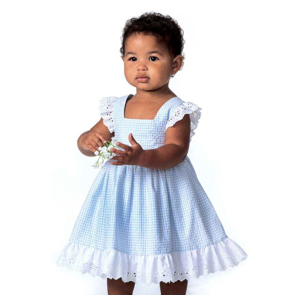 attractive style purchase genuine great quality Dani Girls White and Pale Blue Gingham Dress