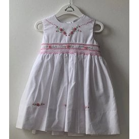 1d82025fb289 Dani Girls White Hand Embroidered Dress D09305 SALE · Sarah Louise ...