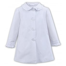 Dani Girls White Lightweight Coat D09247