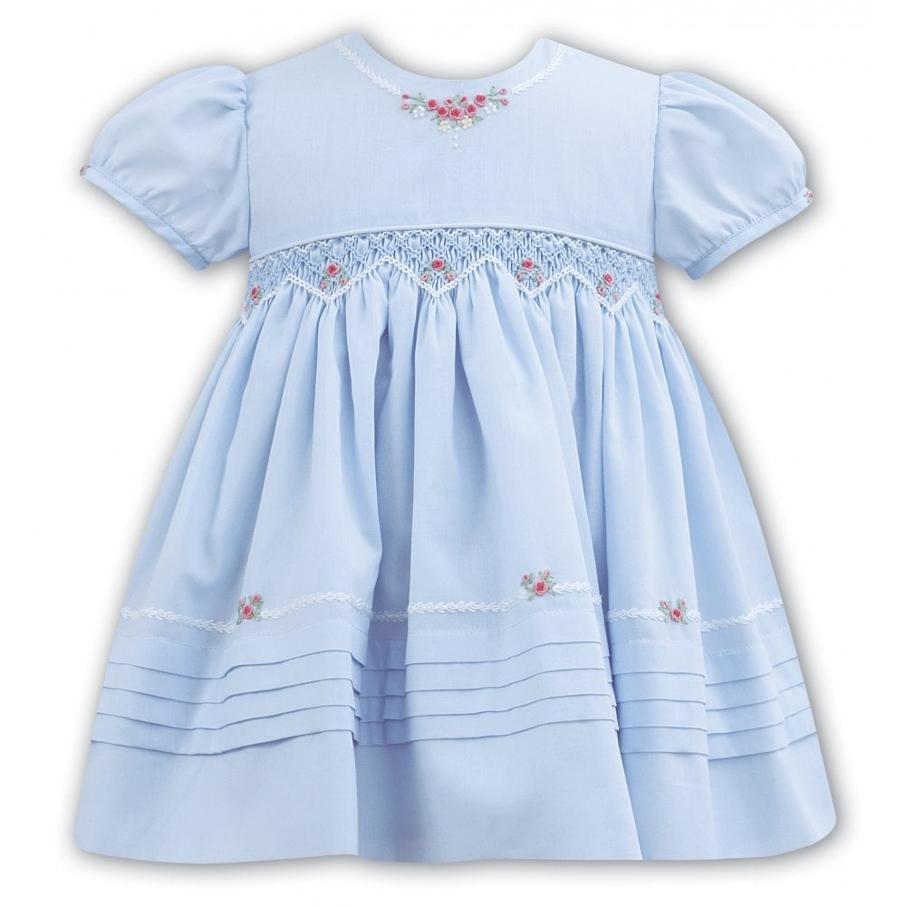 98752401f302d Sarah-Louise-Girls-Blue-Smocked-Embroidered-Dress-011092