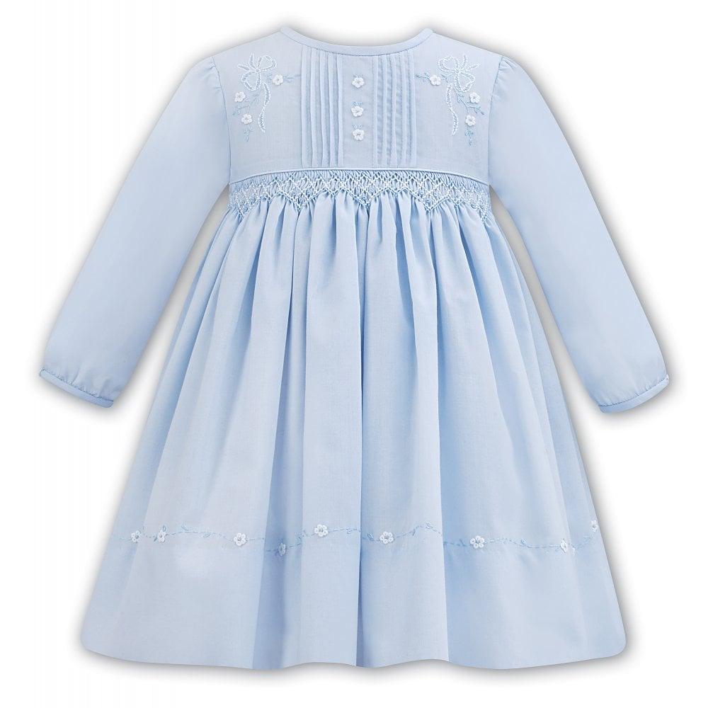 4cca1885ef1 Sarah-Louise-Girls-Blue-Smocked-Dress-011299