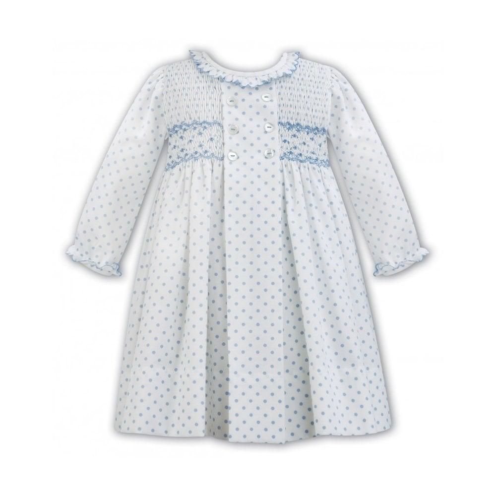 99c764a5 Sarah-Louise-Girls-Blue-Polka-Dot-Smocked-Dress-011315