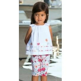 Girls Floral Legging and Blouse Set