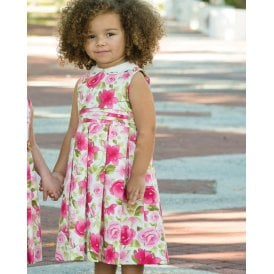 Girls Floral Print Dress 011234