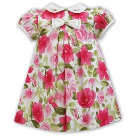 Girls Floral Print Peter Pan Collar Dress