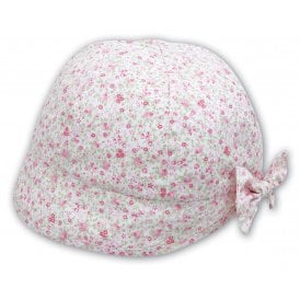Girls Floral Print Sun Hat