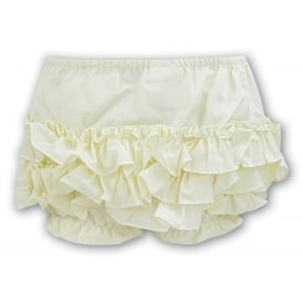 Girls Frilly Pants - Lemon