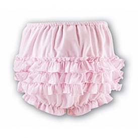Girls Frilly Pants - Pink
