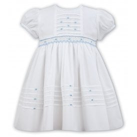 c973b7bc0 Girls Ivory and Blue Dress SALE. Sarah Louise ...