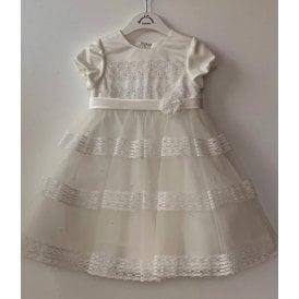 c6723fe457c Girls Ivory Lace Ceremonial Dress