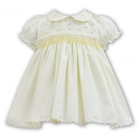 Girls Lemon Smocked Dress