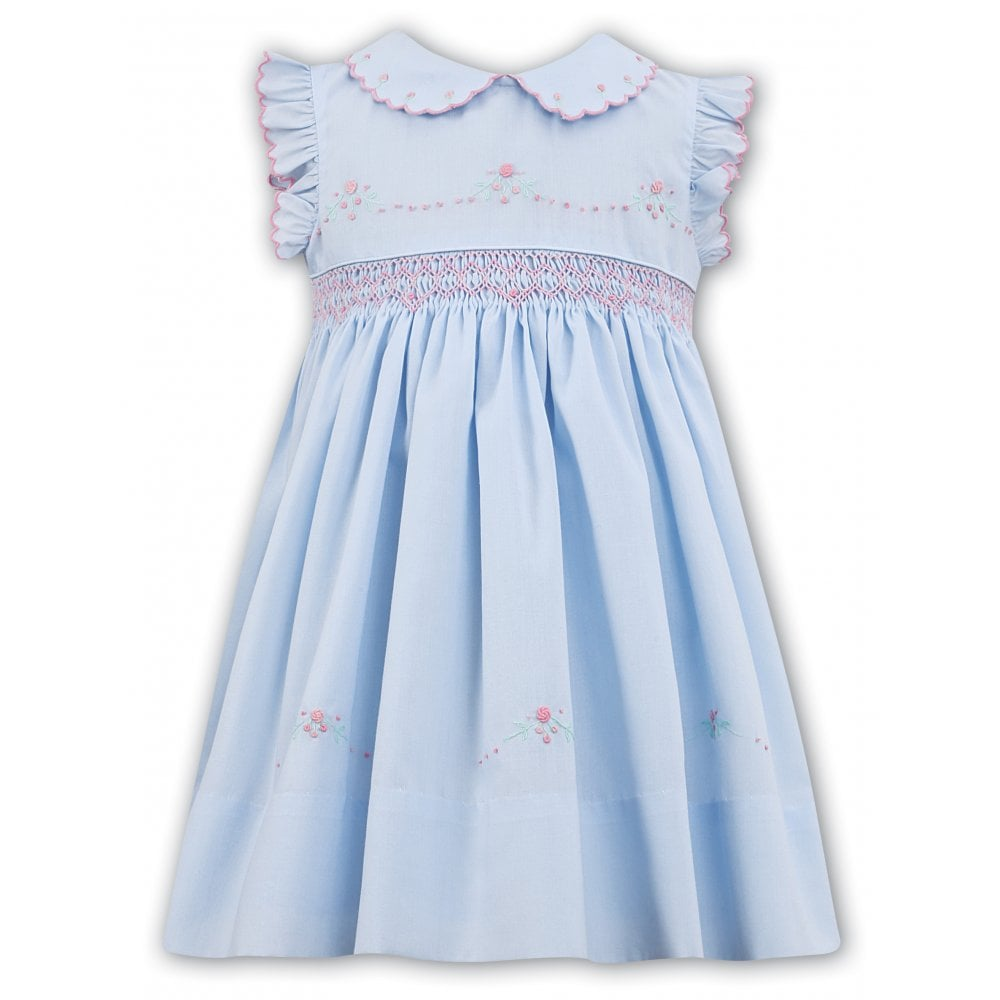 c160ba7a13a Sarah-Louise-Girls-Pale-Blue-Hand-Smocked-Dress-011474